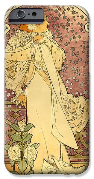 Antiques iPhone Cases - La Dame iPhone Case by Gary Grayson