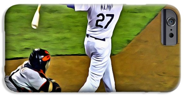 Kemp iPhone Cases - LA Dodgers Matt Kemp iPhone Case by Florian Rodarte