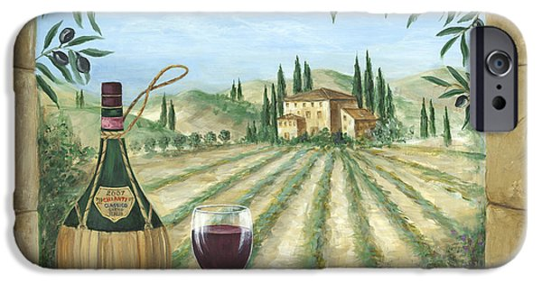 Wine Bottles Paintings iPhone Cases - La Dolce Vita iPhone Case by Marilyn Dunlap