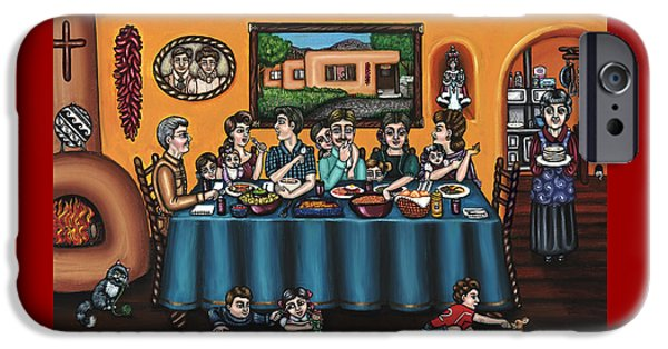 Santa iPhone Cases - La Familia or The Family iPhone Case by Victoria De Almeida