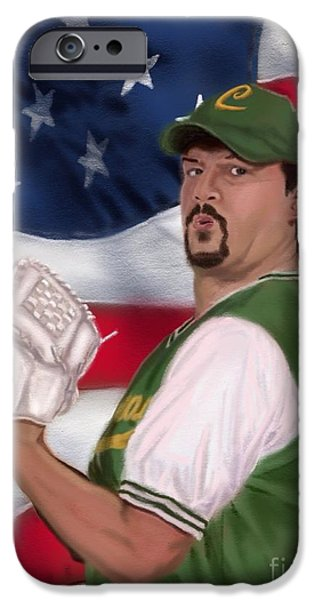 Danny Mcbride iPhone Cases - La Flama Blanca patriotic version iPhone Case by Jeremy Nash