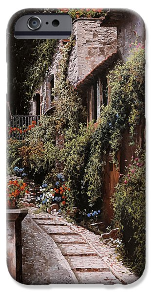 Cold Paintings iPhone Cases - La Fontanella iPhone Case by Guido Borelli