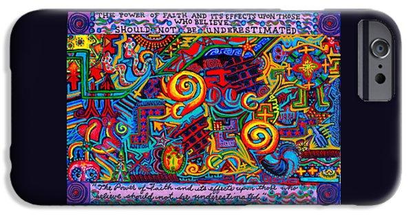 Serpent iPhone Cases - La Fuerza de la Fe iPhone Case by Peter Gumaer Ogden