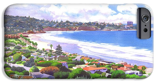 Beach Landscape iPhone Cases - La Jolla California iPhone Case by Mary Helmreich