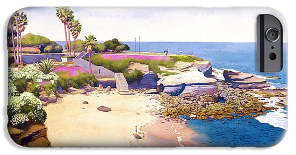 Cave iPhone Cases - La Jolla Cove iPhone Case by Mary Helmreich