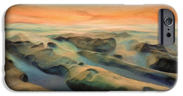 Sunset Mixed Media iPhone Cases - La Jolla Reimagined iPhone Case by Joel Olives
