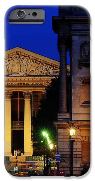 La Madeleine at Night iPhone Case by Colin Woods