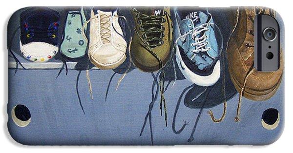 Nike Paintings iPhone Cases - La Marche Du Temps  iPhone Case by Dominique Serusier