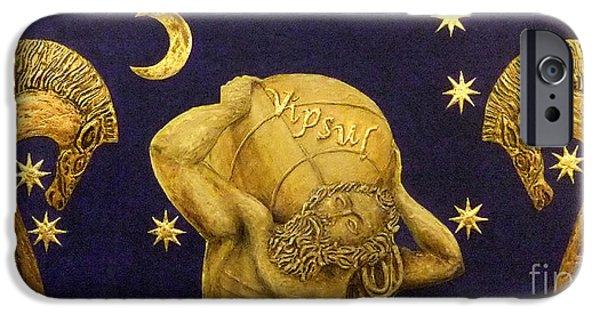 Mythological Reliefs iPhone Cases - La nascita di Vipsul iPhone Case by Anna Maria Guarnieri