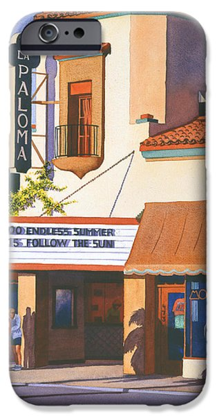 Theatre iPhone Cases - La Paloma Theater in Encinitas iPhone Case by Mary Helmreich