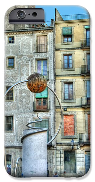 Facade iPhone Cases - La Panier district of Marseille France iPhone Case by Juli Scalzi