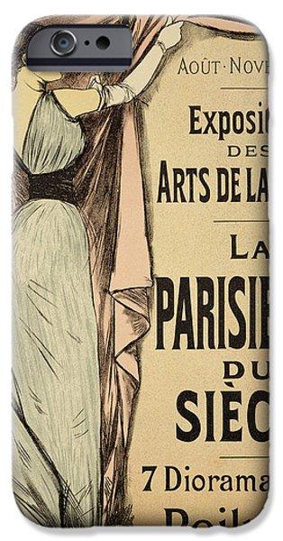 Curtains iPhone Cases - La Parisienne du Siecle iPhone Case by Jean Louis Forain