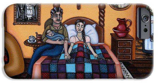 Nurse iPhone Cases - La Partera or The Midwife iPhone Case by Victoria De Almeida