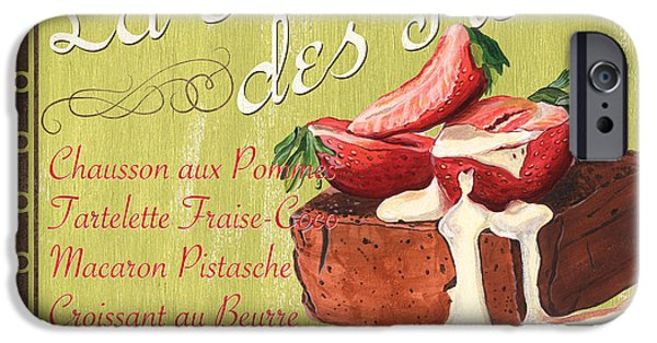 Graphic Design Paintings iPhone Cases - La Patisserie des Reves 2 iPhone Case by Debbie DeWitt