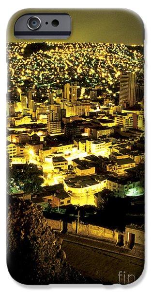 Architectur iPhone Cases - La Paz cityscape Bolivia iPhone Case by Ryan Fox