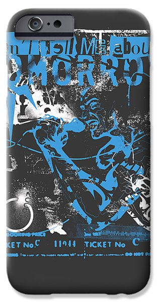 Well-known iPhone Cases - LA Punk Rock iPhone Case by Pop Culture Prophet