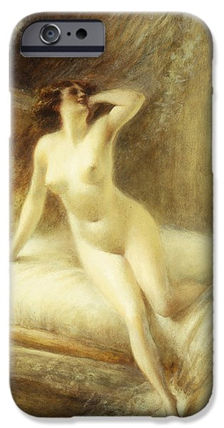 Nudity iPhone Cases - La Reveille iPhone Case by Albert Guillaume