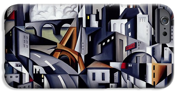 Modernist iPhone Cases - La Rive Gauche iPhone Case by Catherine Abel