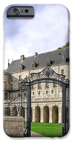 La Roche Guyon Castle iPhone Case by Olivier Le Queinec