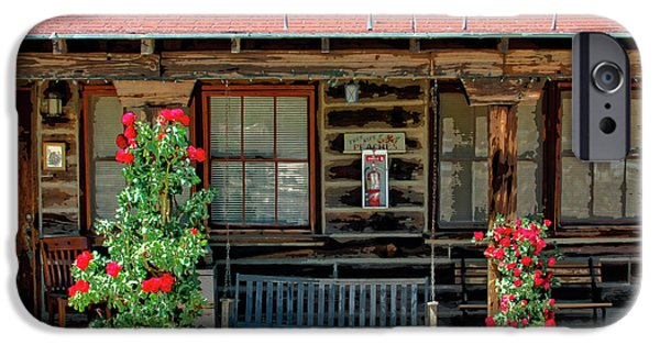 Cabin Window iPhone Cases - LA ROSA MOTEL Pioneer Town iPhone Case by William Dey