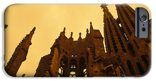 19th Century iPhone Cases - La Sagrada Familia Barcelona Spain iPhone Case by Panoramic Images