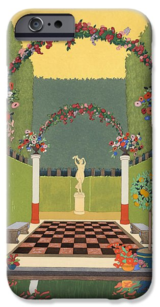 Overhang iPhone Cases - La Salle Verte iPhone Case by Georges Barbier