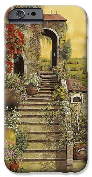 Vase iPhone Cases - La Scala Grande iPhone Case by Guido Borelli