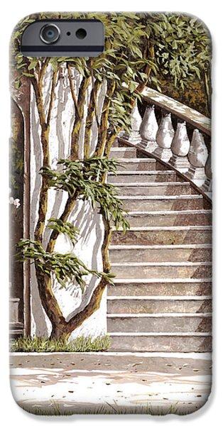 la scalinata iPhone Case by Guido Borelli