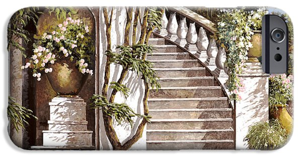 Stairs iPhone Cases - La Scalinata iPhone Case by Guido Borelli