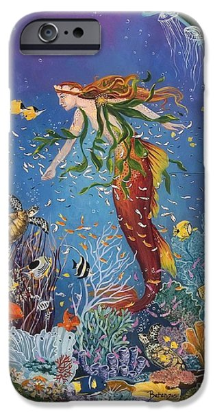 Angel Mermaids Ocean iPhone Cases - La Sirena iPhone Case by Sue Betanzos