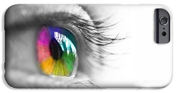 Concept Digital iPhone Cases - La vie en couleurs iPhone Case by Delphimages Photo Creations