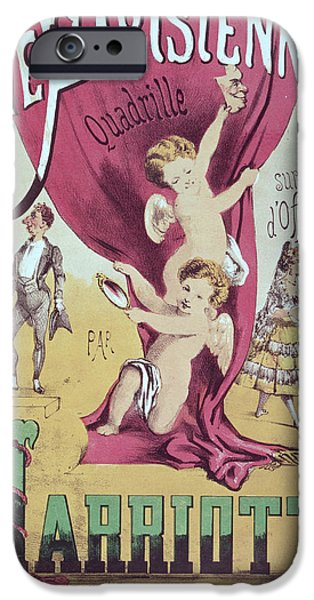 Sheets Drawings iPhone Cases - La Vie Parisienne Quadrille Poster iPhone Case by English School