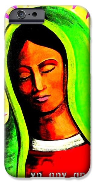 Iraq Paintings iPhone Cases - La Virgen Arizona iPhone Case by Michelle Dallocchio