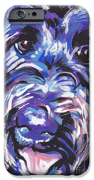 Black Dog iPhone Cases - Labra Doodly Do iPhone Case by Lea