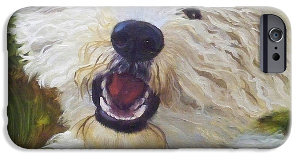 Dog iPhone Cases - Labradoodle iPhone Case by Alice Leggett