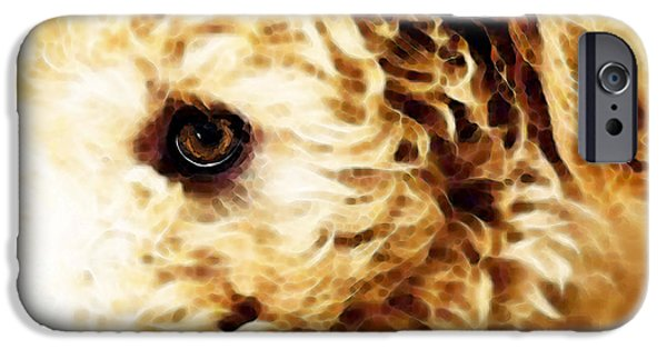 Buying Online Digital iPhone Cases - Labradoodle Dog Art - Doodle Bug iPhone Case by Sharon Cummings