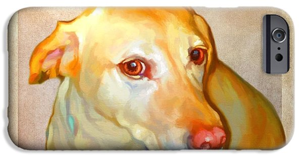 Cute Puppy Pictures Digital Art iPhone Cases - Labrador Art iPhone Case by Iain McDonald
