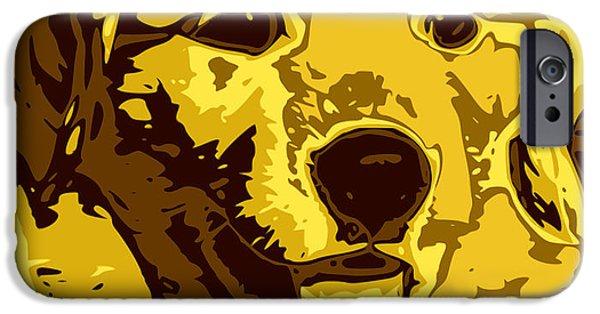 Labrador Retriever Digital Art iPhone Cases - Labrador iPhone Case by Chris Butler