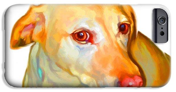 Buy Dog Digital iPhone Cases - Labrador Retriever Art iPhone Case by Iain McDonald