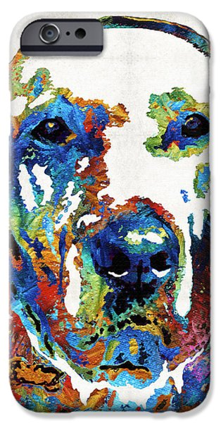 Black Dog iPhone Cases - Labrador Retriever Art - Play With Me - By Sharon Cummings iPhone Case by Sharon Cummings