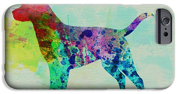 Pets Art iPhone Cases - Labrador Retriever Watercolor iPhone Case by Naxart Studio