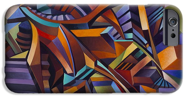 Staircase Paintings iPhone Cases - Labrynth 2 iPhone Case by Ricardo Chavez-Mendez