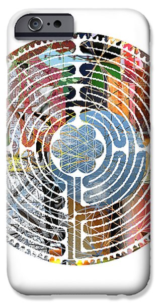Recently Sold -  - Flower Of Life iPhone Cases - Labrynth iPhone Case by Sacred Geometry