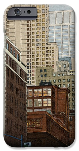 Buildings iPhone Cases - Labyrinth iPhone Case by Meg Shearer