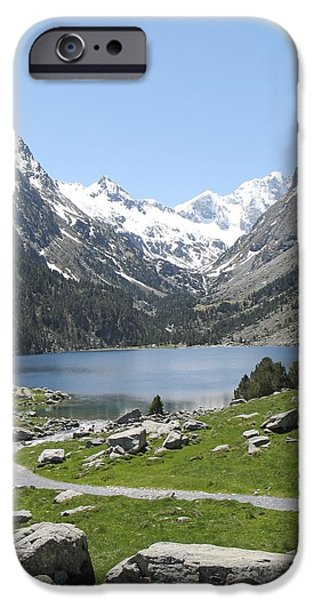 Clear iPhone Cases - Lac de Gaube in the Pyrenees iPhone Case by Unknown