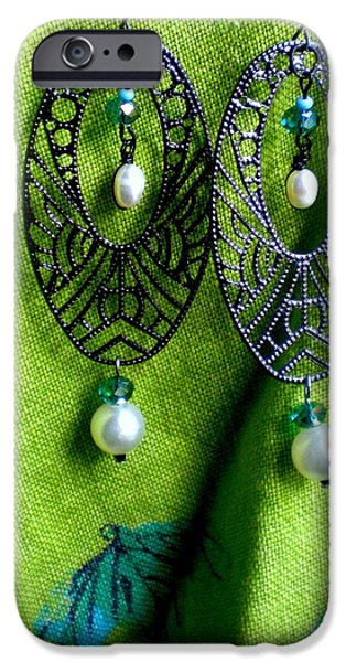 Handcrafted Jewelry iPhone Cases - Lace and Pearl iPhone Case by Beth Sebring