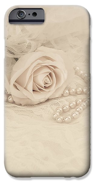 Lace and Promises iPhone Case by Kim Hojnacki