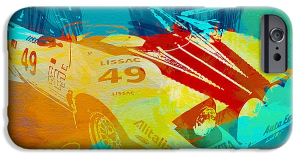 Racing Photographs iPhone Cases - Lacia Stratos Watercolor 1 iPhone Case by Naxart Studio
