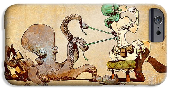 Girl iPhone Cases - Lacing Up iPhone Case by Brian Kesinger