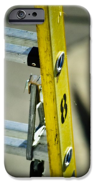 Work Tool iPhone Cases - Ladder No 8 iPhone Case by Christi Kraft